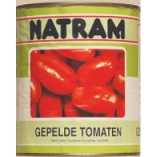 gepelde tomaten in blik (850 ml.) NB OP=OP